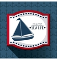 Flat about sailboat design vector image vector image