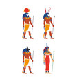 flat egypt god set vector image