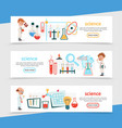 flat science colorful horizontal banners vector image vector image