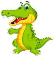 funny crocodile cartoon posing vector image vector image