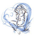 graceful composition of pregnant woman body vector image