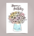 greeting card designe vector image