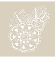Hand-Drawn Abstract Henna Mehndi Flower Ornament vector image vector image