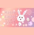 happy easter day decoration background design with vector image vector image