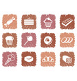 icons of sweets vector image vector image