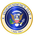 independence day seal vector image vector image
