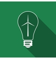 Light bulb with a wind turbines as idea of eco vector image