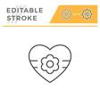 love editable stroke line icon vector image vector image