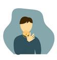 man having sore throat vector image vector image