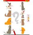 match halves of dog pictures educational game vector image vector image