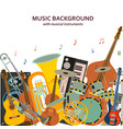 music background made of different musical vector image