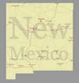 new mexico detailed exact detailed state map vector image