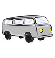 old bus drawing on white background vector image vector image