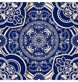 Ornamental seamless pattern with shadow effect vector image vector image