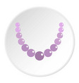 pearl necklace icon circle vector image vector image