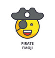 pirate emoji line icon sign vector image vector image