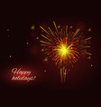red and bright yellow fireworks holidays vector image vector image