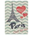 Retro Style Paris love print vector image