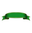 ribbon green banner sign satin blank promotion vector image