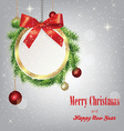 round Christmas greeting banner vector image vector image