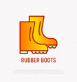 rubber boots thin line icon modern vector image
