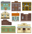 saloon wild west housing building and vector image vector image