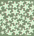 seamless pattern rounded star shape amoeba vector image vector image
