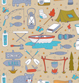 Seamless pattern with adverture aquipment vector image vector image
