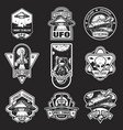 set of vintage space and astronaut badges vector image vector image