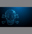skull and crossbones form lines and particle vector image