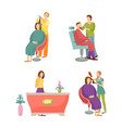 spa salon barber for man hairdresser set vector image vector image