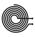 spiral heater icon simple style vector image vector image