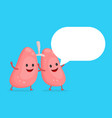 strong healthy happy lungs character vector image vector image