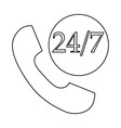 Support call center 24 hours icon outline style