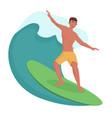 surfer on the wave vector image vector image