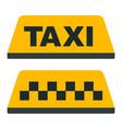 taxi checkered taxi car passenger transportation vector image vector image