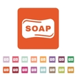 The soap icon Soap symbol Flat vector image vector image