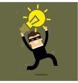 Thief stealing idea vector image vector image