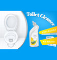 toilet cleaner advertising poster template vector image vector image