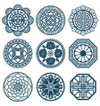 traditional korean symbols korea pattern vector image vector image