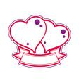 Two loving hearts Wedding couple conceptual vector image vector image
