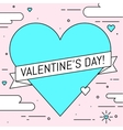 Valentines Day greeting card Line art design vector image vector image