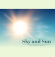 the sun and sky weather and forecast a vector image