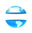 logo earth planet with copy space vector image