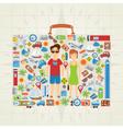 Suitcase Shaped Travel Background vector image