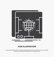 3d dimensional holographic scan scanner icon vector image vector image