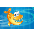 A big orange fish vector image vector image