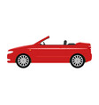 a cartoon red car cabriolet vector image