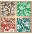 Abstract hand drawn pattern card set vector image