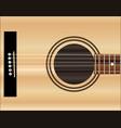 acoustic guitar soundboard vector image vector image